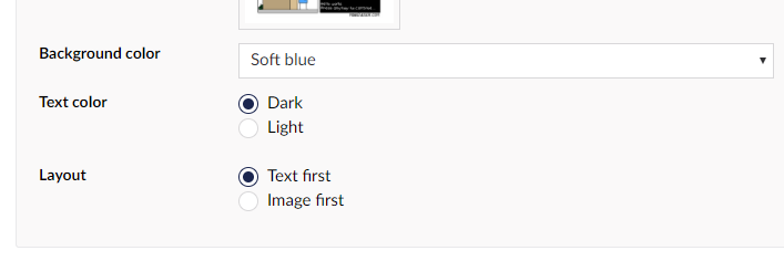 Dropdowns and radio buttons as color pickers