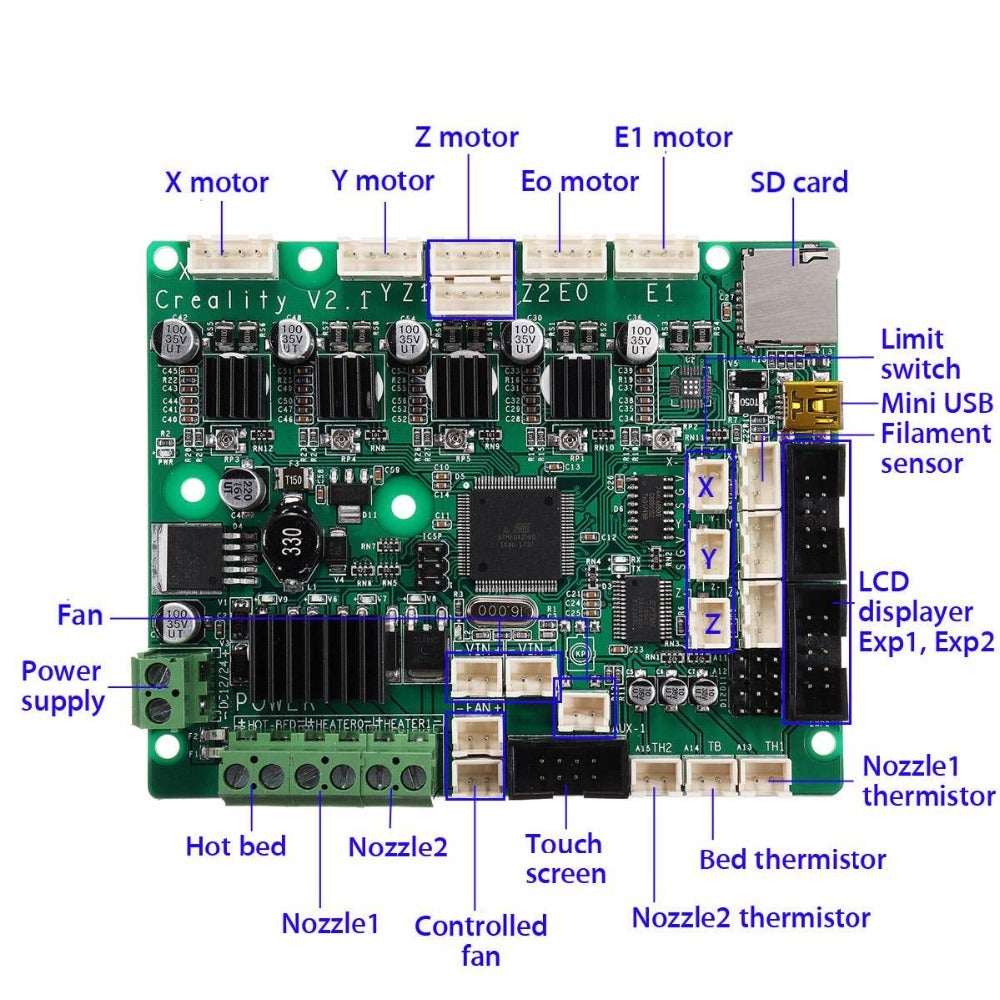 Pcb Schematic    Layout For Cr10s   U00b7 Issue  2