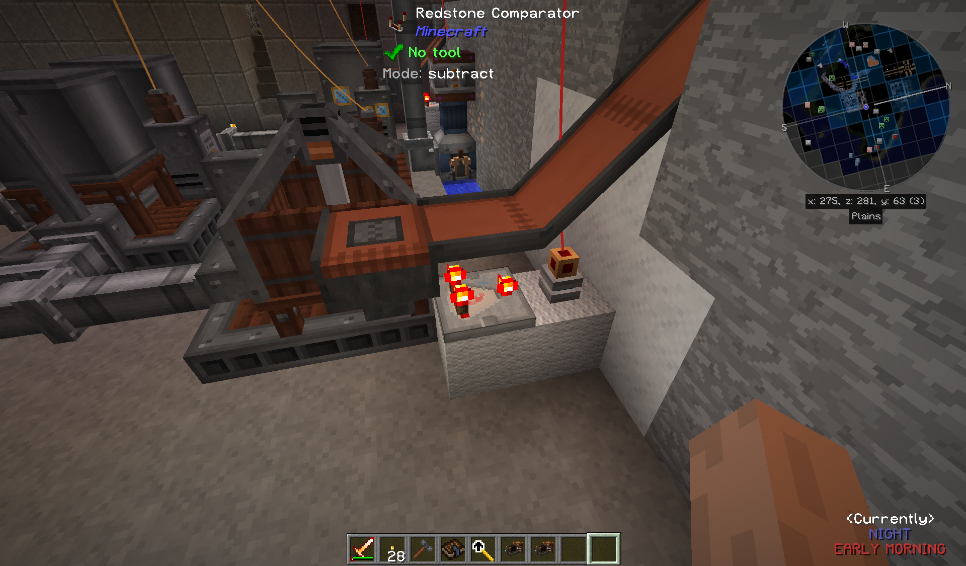 Suggestion] Redstone signal output from machinery inventory