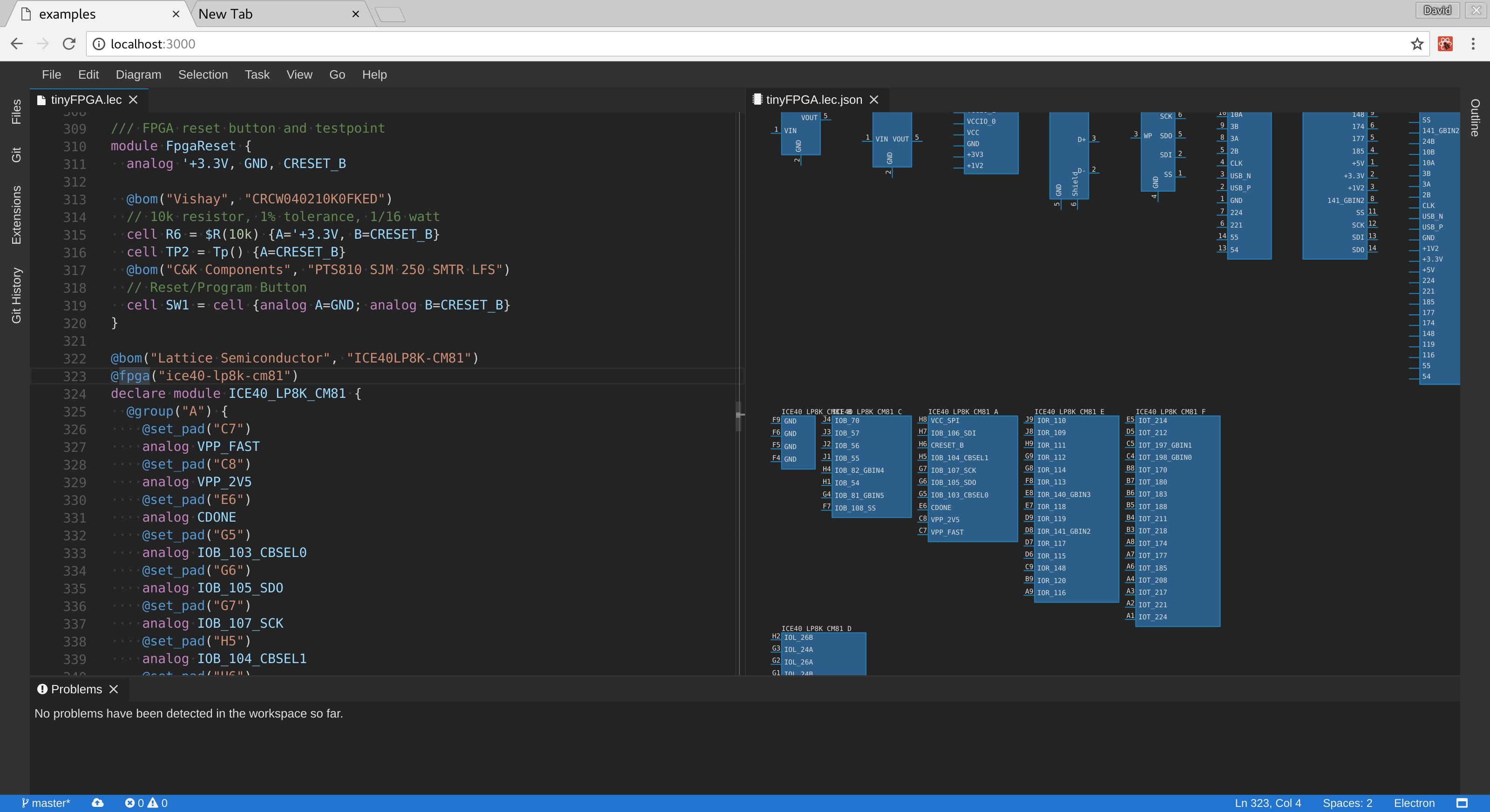 Screenshot of Electron IDE