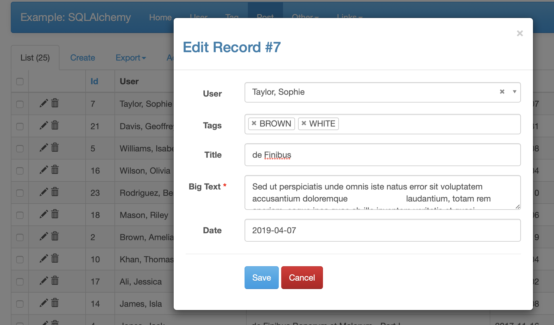 Is it possible to show wtform validation error on modal? · Issue