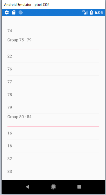 Android] ListView grouping broken with 3 5 0 · Issue #5184