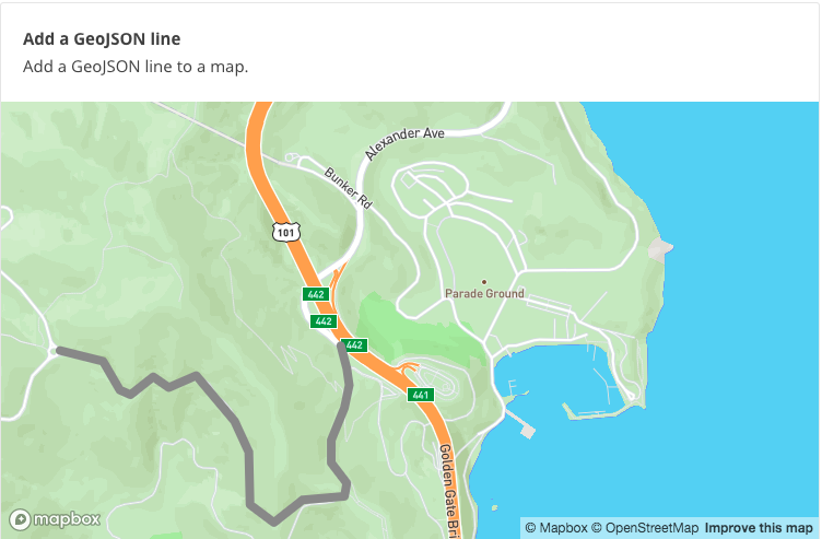 Can I add a GeoJSON line like they do in the (mapbox-gl-js