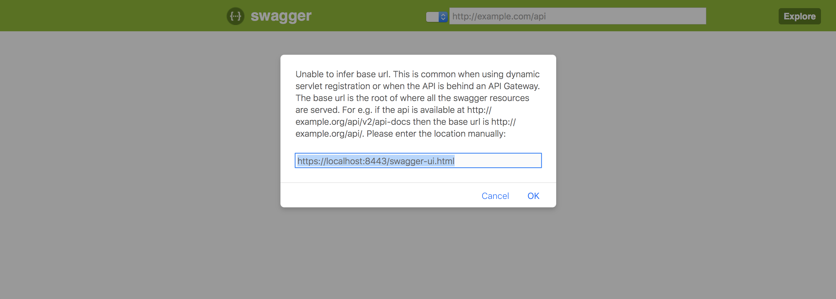 Swagger ui stuck on unable to infer base url · Issue #1996
