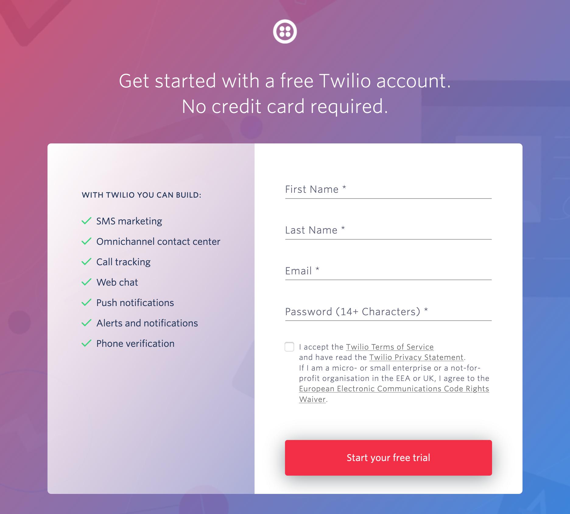 create-twilio-account