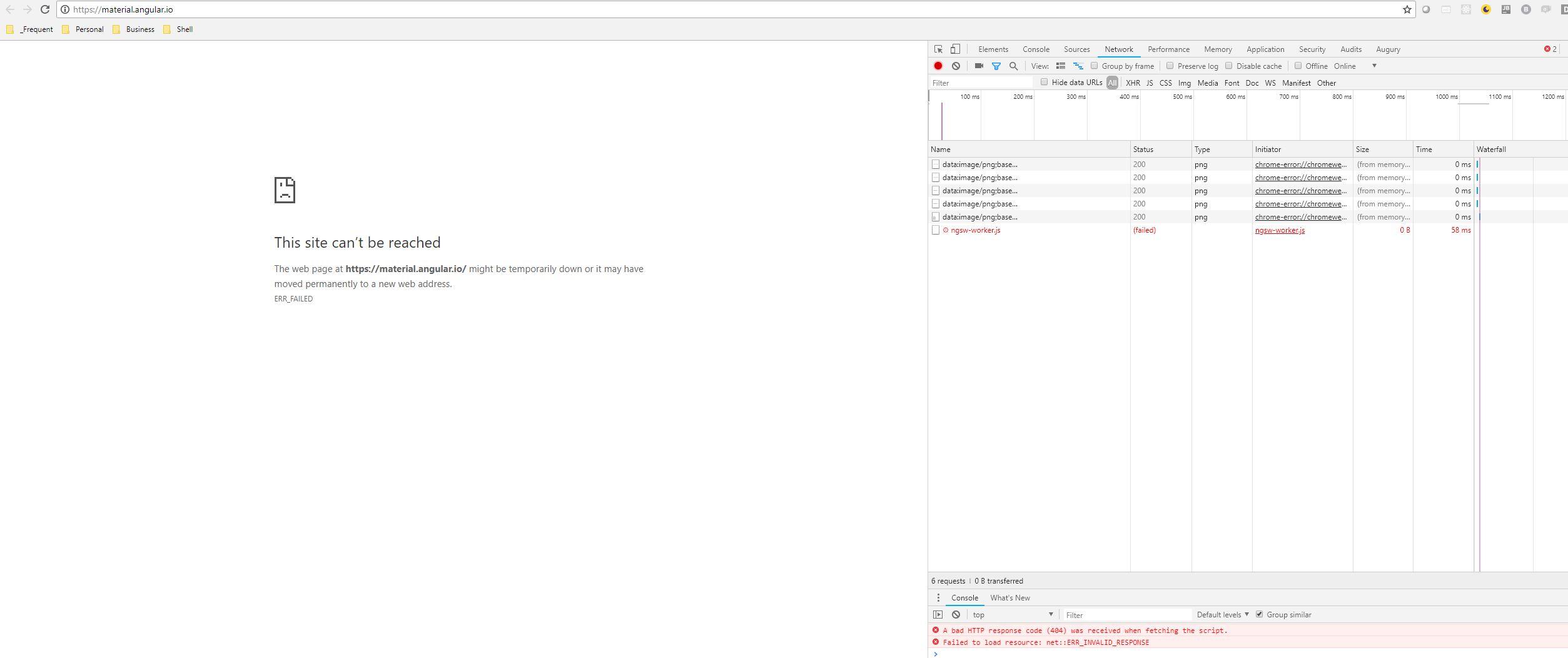 material angular io site returns error - cannot load it · Issue
