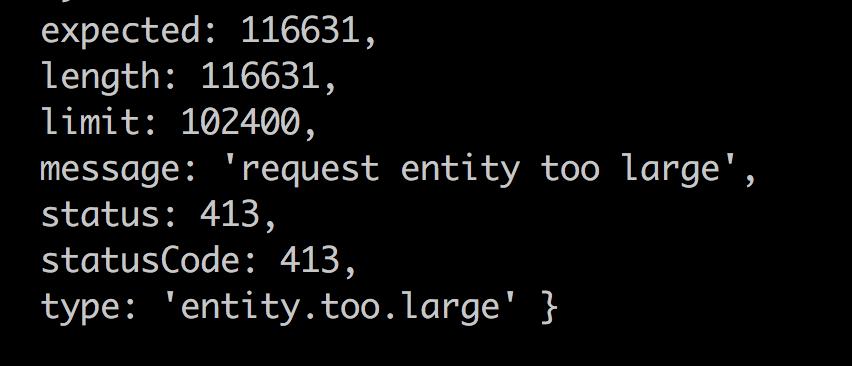 HTTP request size limit does not match Google Cloud Functions limit