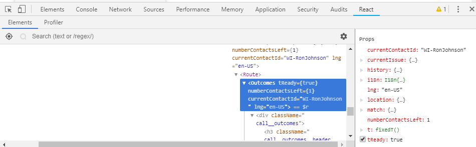 Cannot find React components after calling t navigateTo(<url