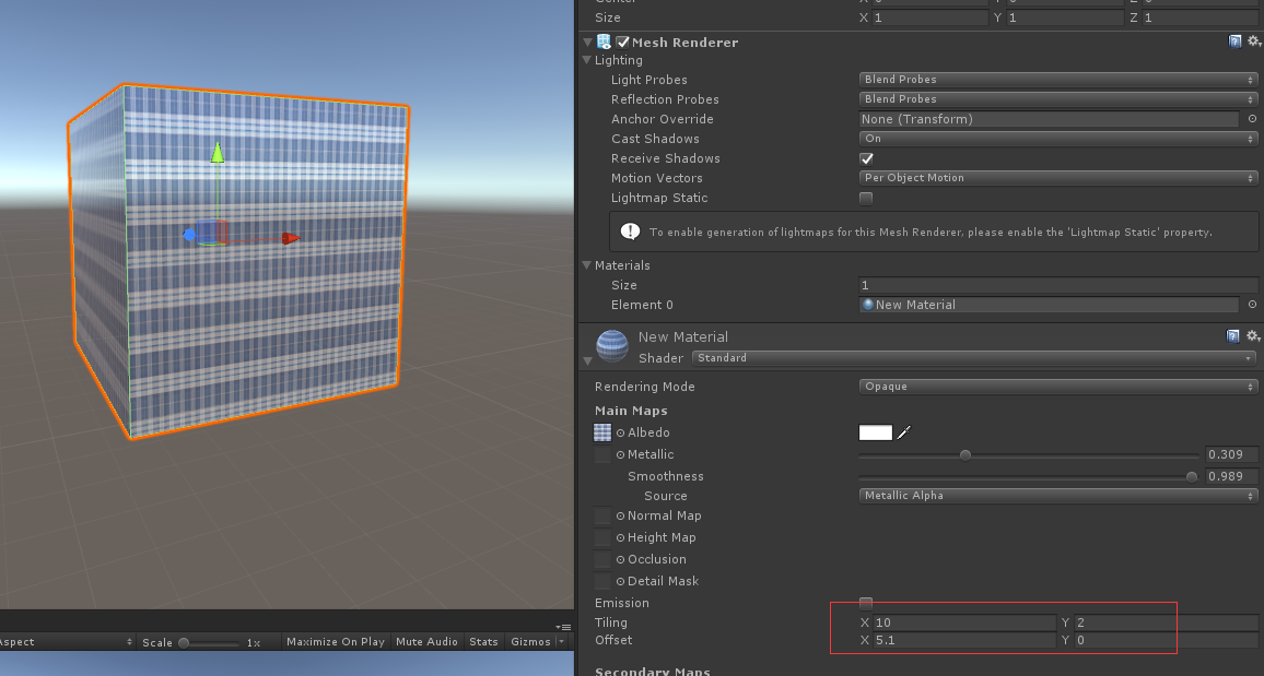 Feature] uv tiling and offset is work now · Issue #28