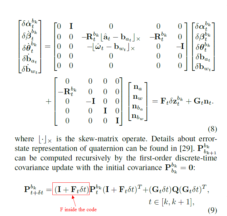 ask help on understanding covariance and jacobian matrix calculation