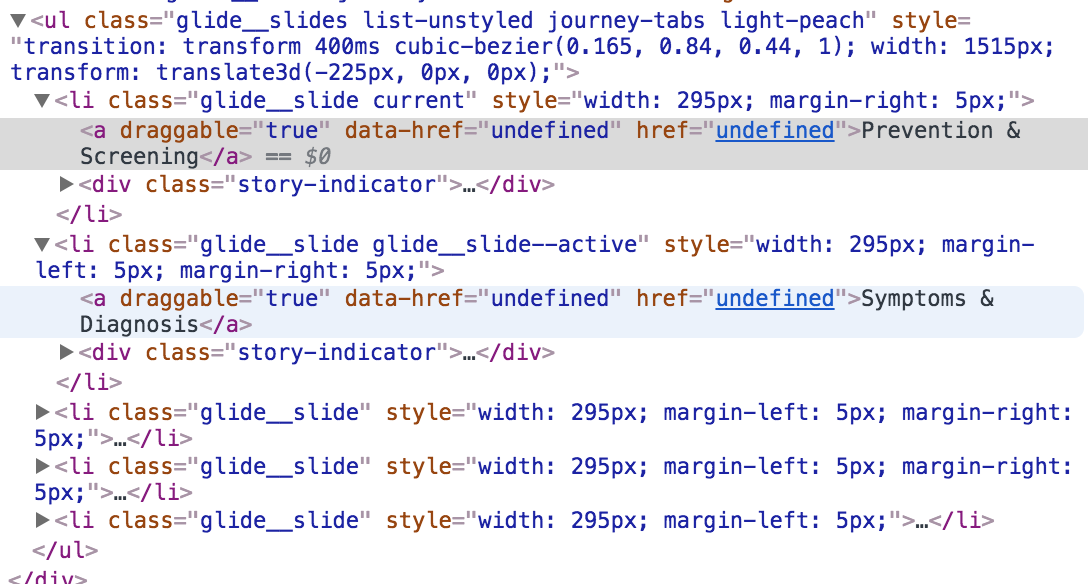 Links are set as undefined when having multiple sliders · Issue #225