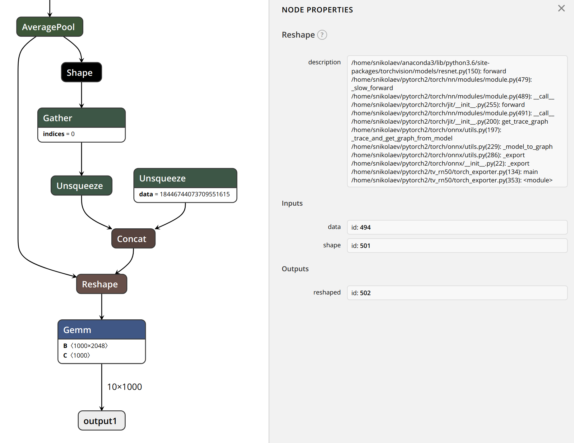 ONNX graph exporter issues from TensorRT 5 perspective