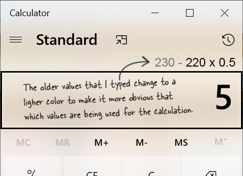 Improve Clarity Of Math Expressions In History For Standard Calculator Issue 138 Microsoft Calculator Github