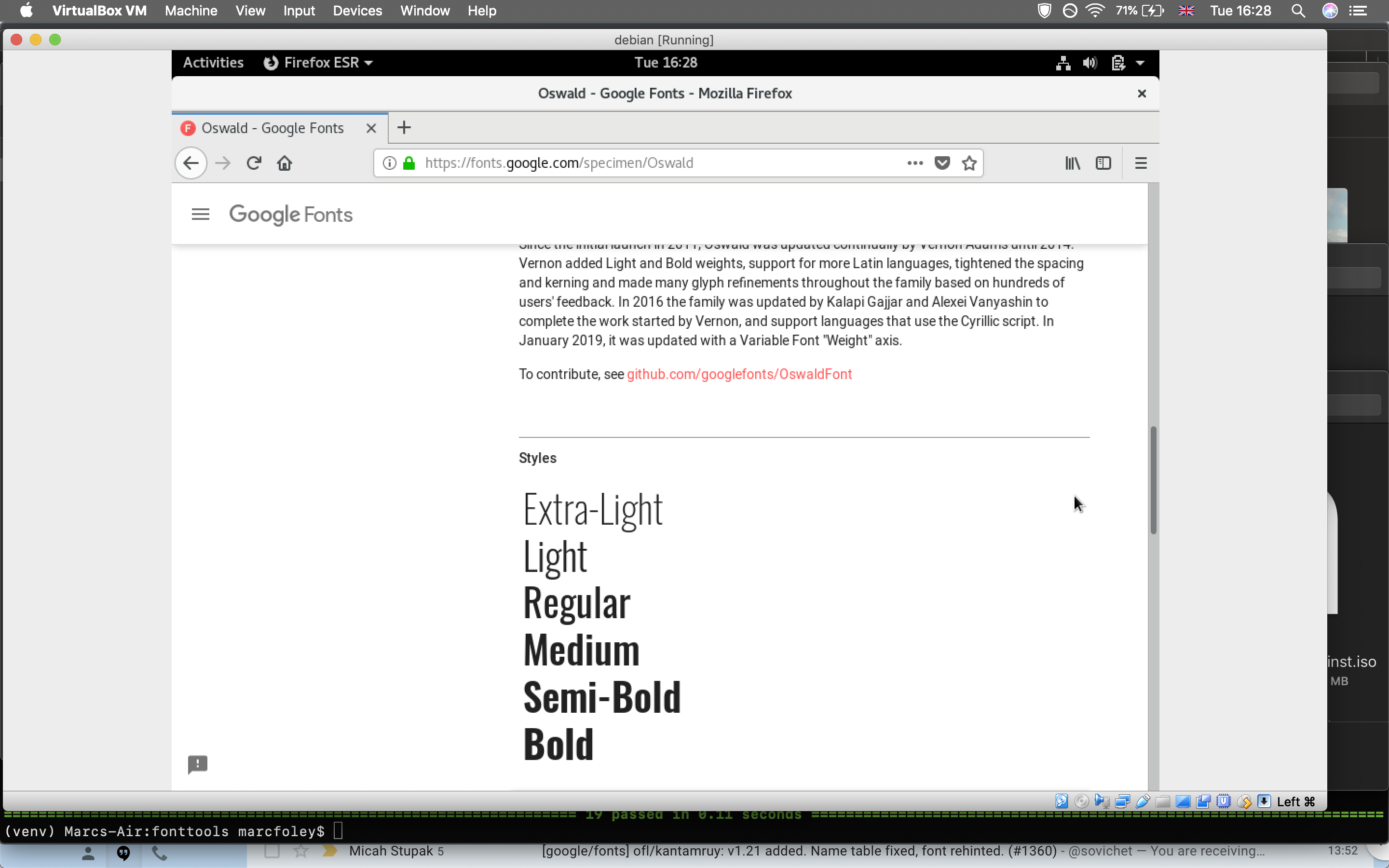 Oswald not rendering in Firefox and Chromium on Linux