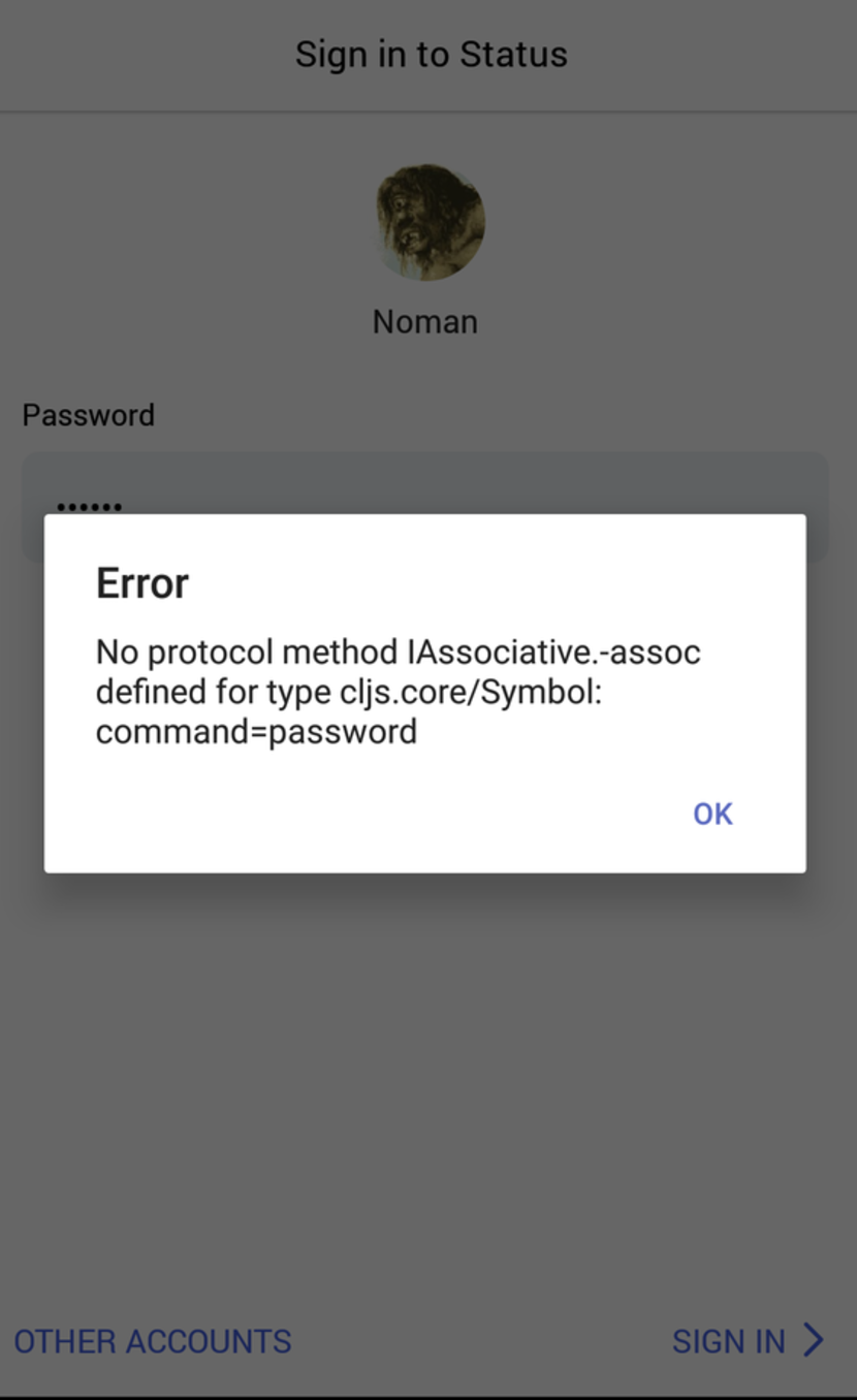 Cant Login After Upgrade Isissue No Protocol Method Iassociative