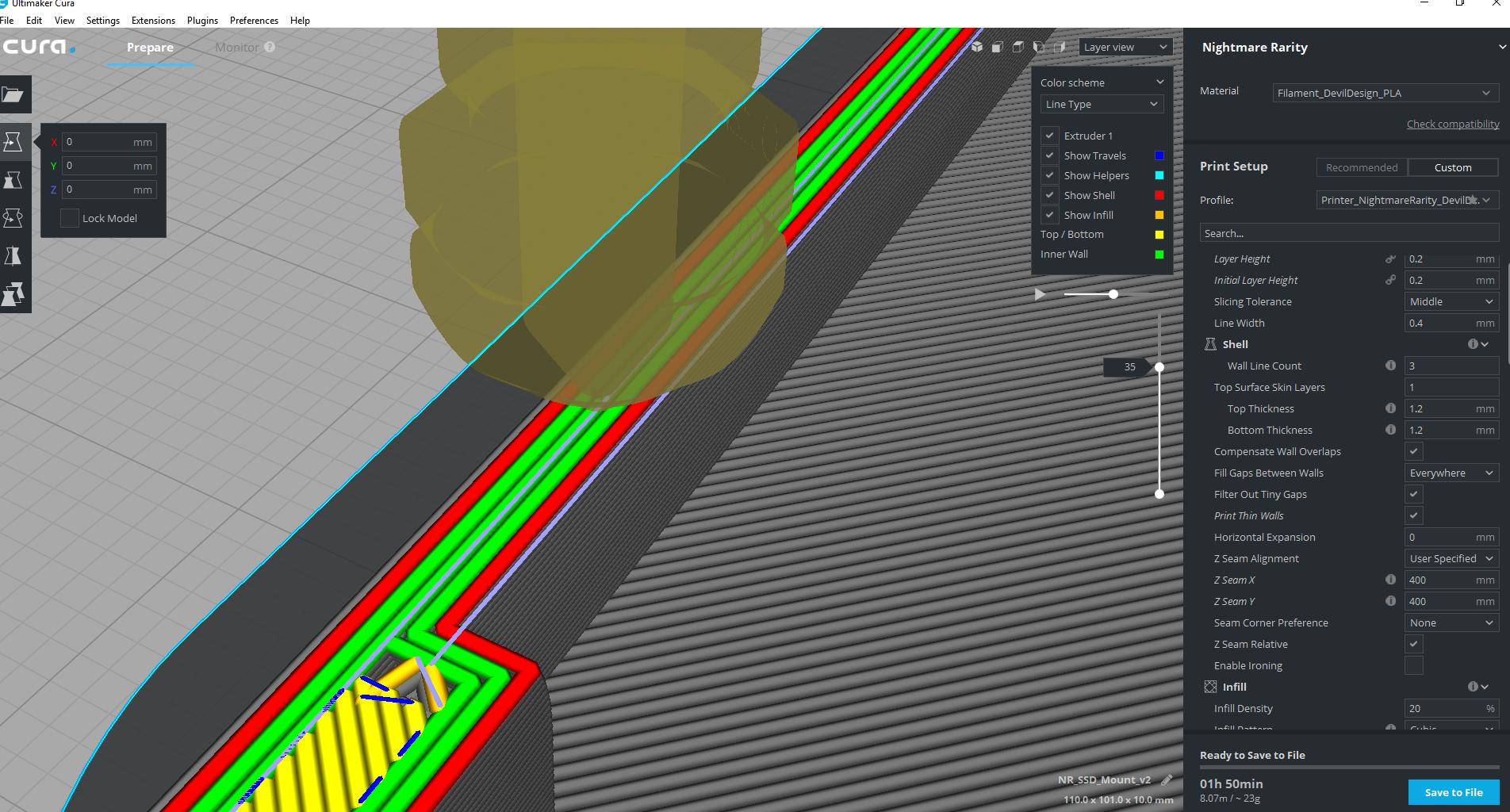 Cura 3 1 - Fill Gaps Between Walls extrudes into an existing