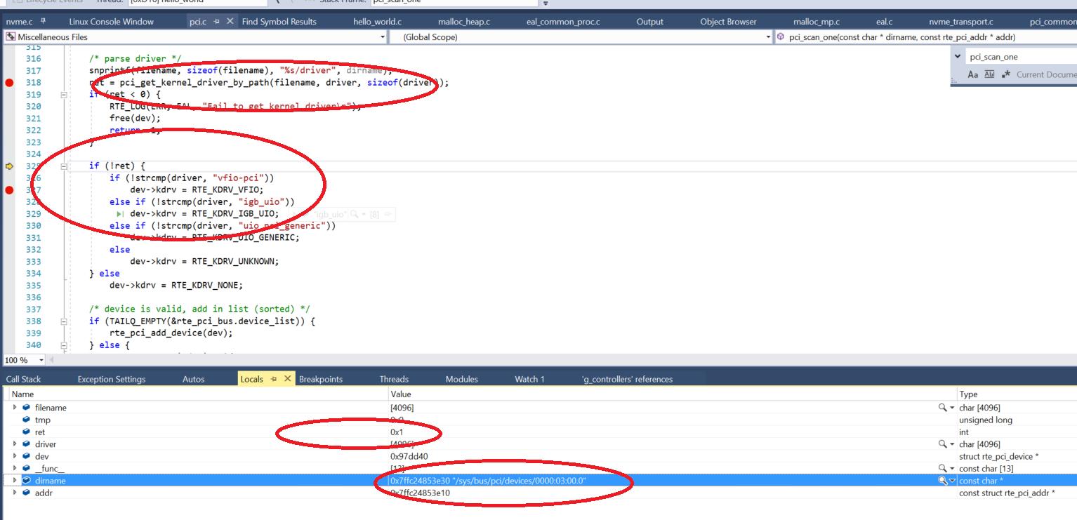 on vmware workstation 14 x SPDK hello world example code