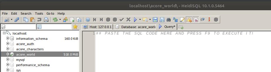 HeidiSQL import example
