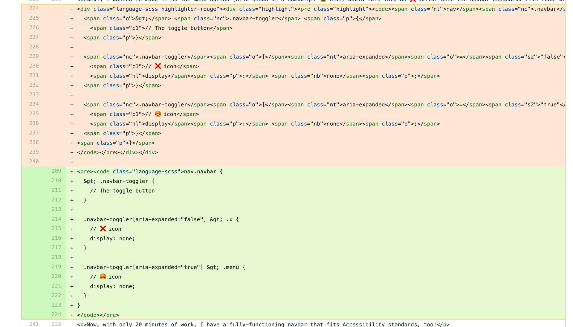 HTML without syntax highlighting