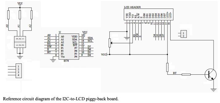 PCF8574-based I2C module