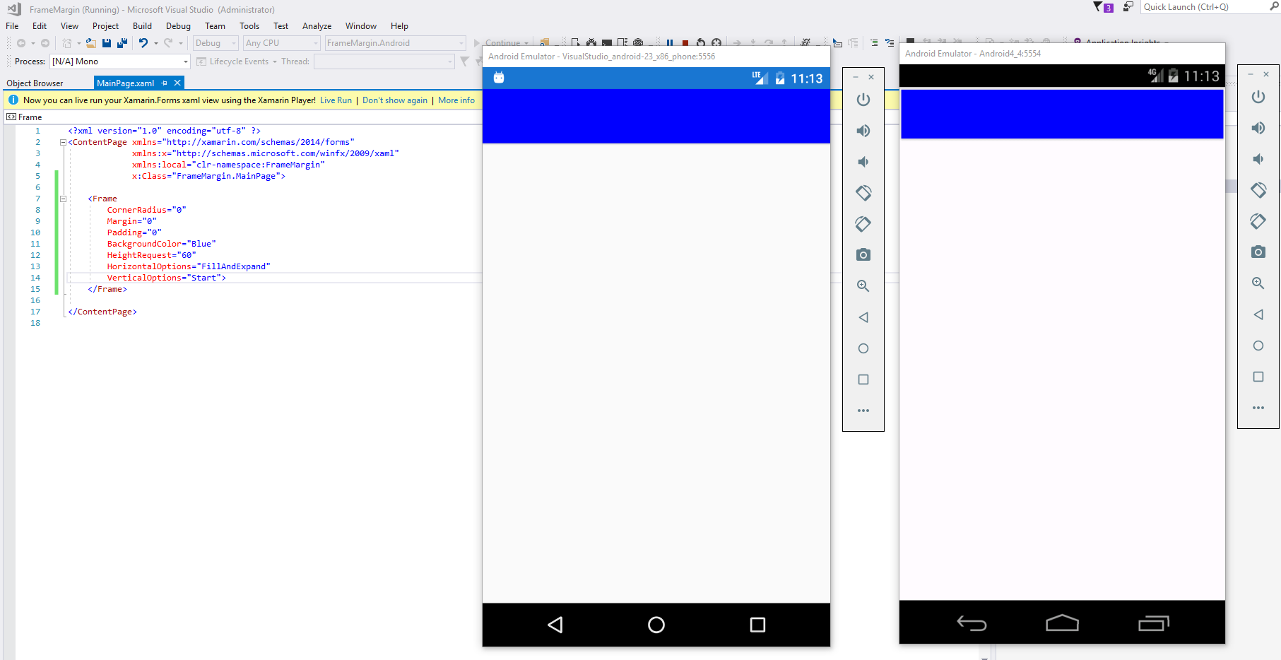 Unwanted margin on frame using android 4.4 · Issue #1563 · xamarin ...