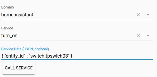 TPLink Switch not working via /dev-service but via normal