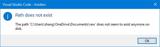 Cannot open a folder under my OneDrive folder · Issue #27285