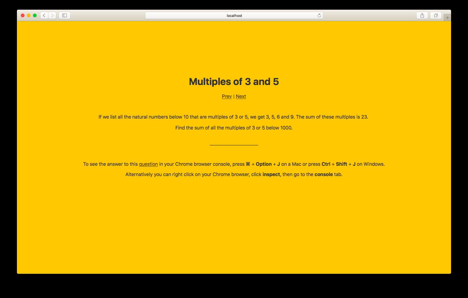 Project Euler Screenshot