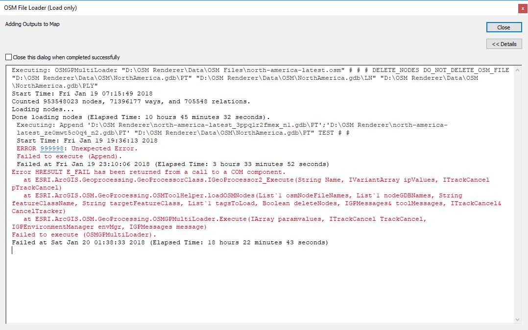 OSM File Loader Performance · Issue #181 · Esri/arcgis-osm-editor