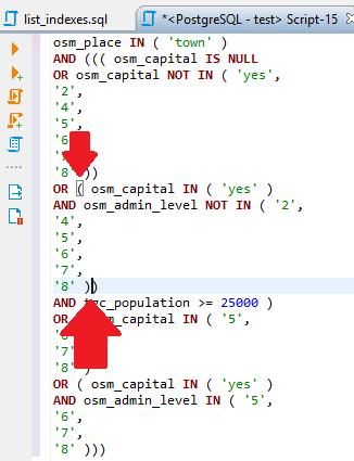 SQL Editor - Color option add -> Matching brackets highlight ...