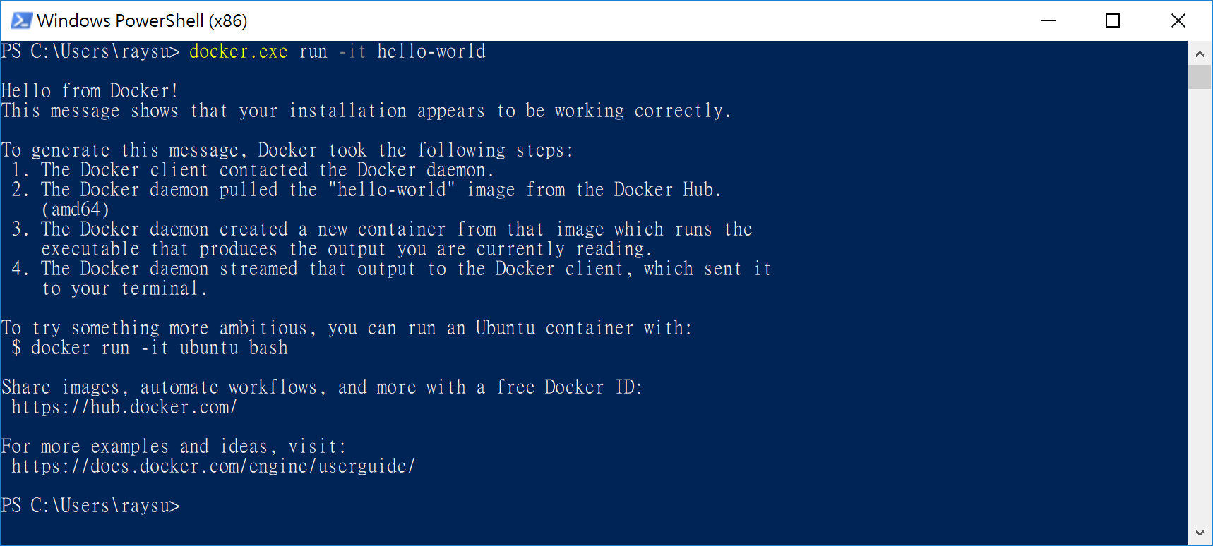 TTY Error running interactive docker on Bash on Windows