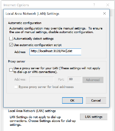 Automatic proxy settings not seen by PowerShell 6 2 0 on
