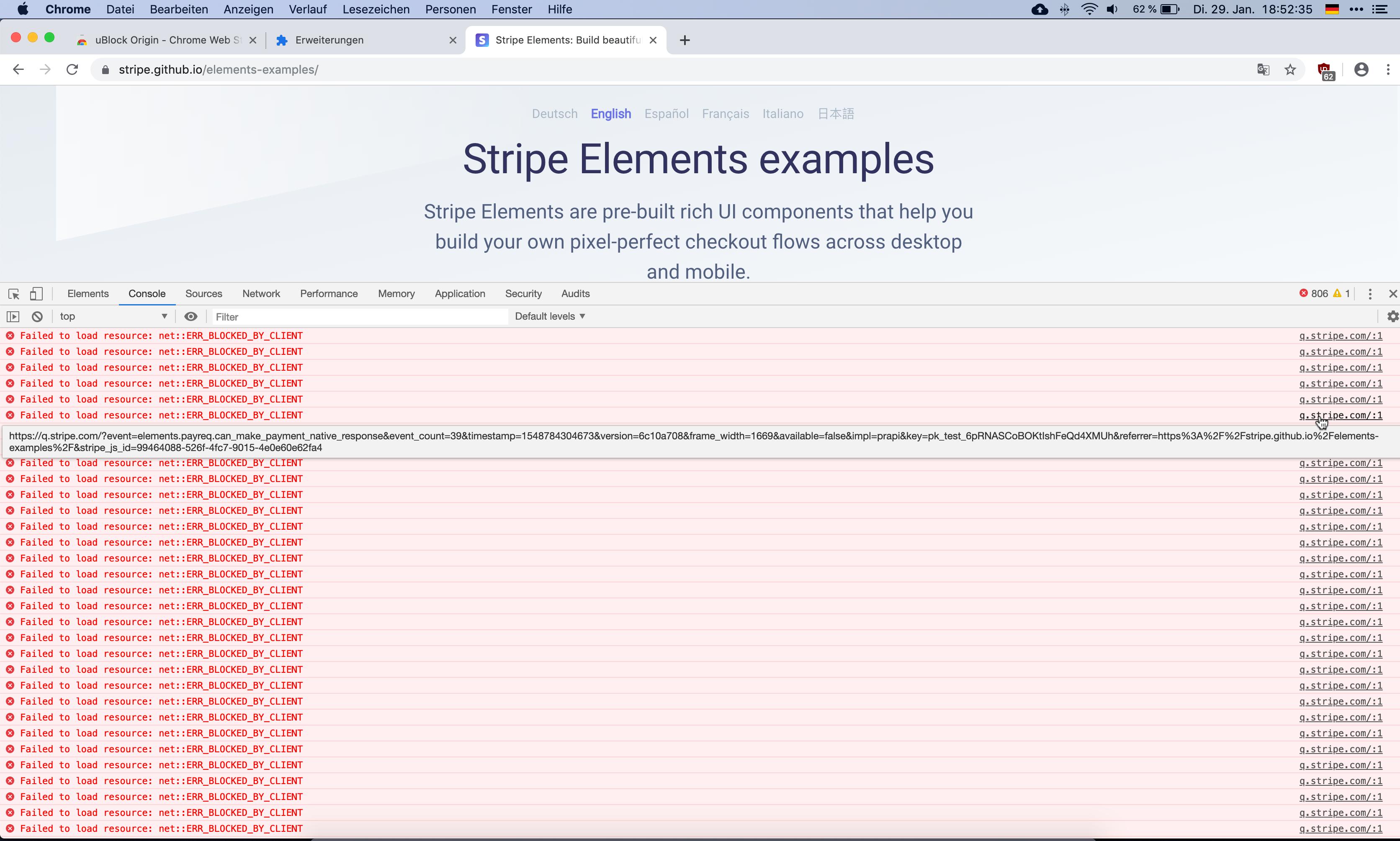 Ghostery adblocker seems to block Stripe API · Issue #256