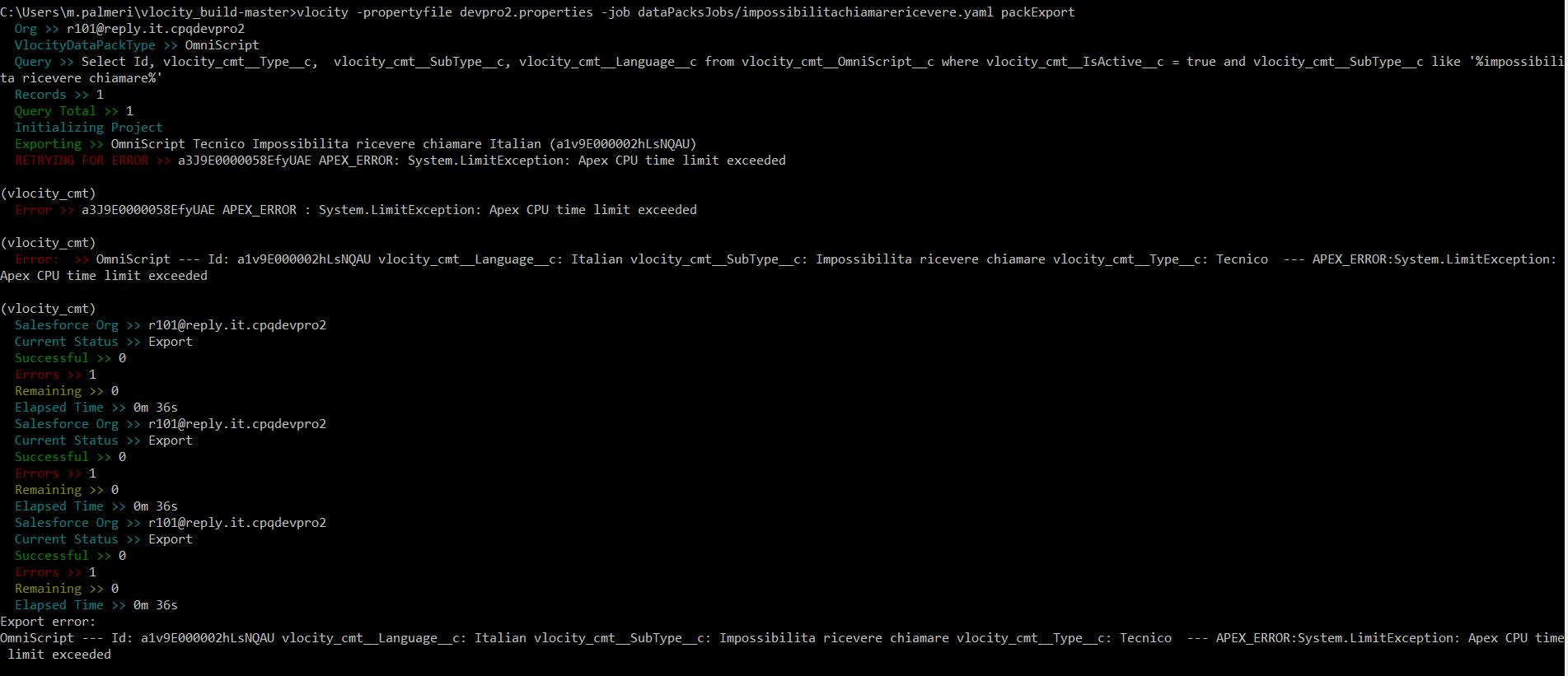 APEX_ERROR : System LimitException: Apex CPU time limit