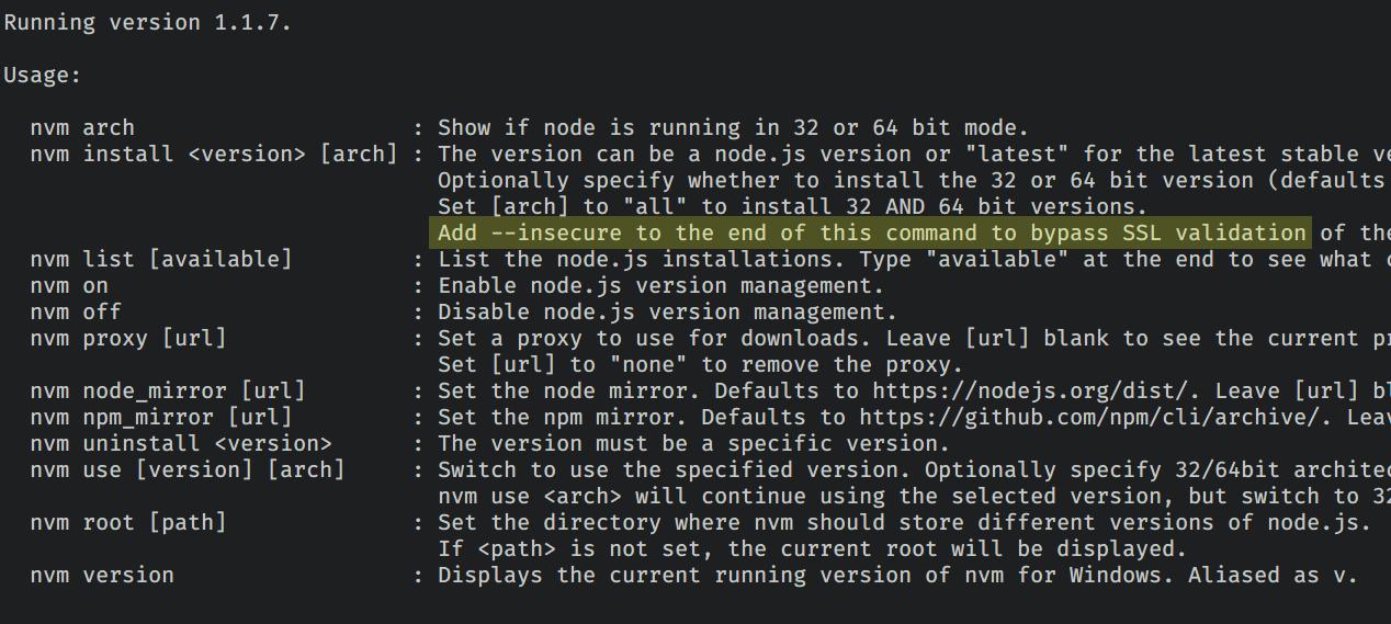 nvm install node · Issue #315 · coreybutler/nvm-windows · GitHub