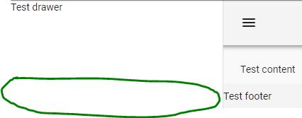 Bug Report] v-footer leaves v-navigation-drawer too short