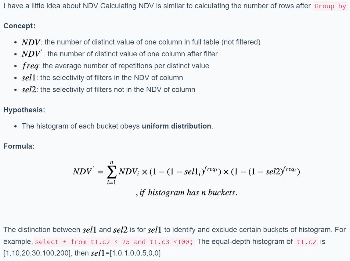 Enhance the method `Selectivity` · Issue #7634 · pingcap