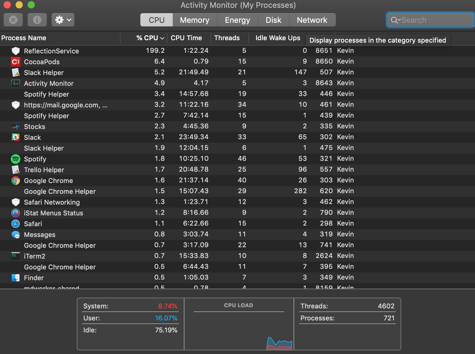 sourcekit service cpu usage