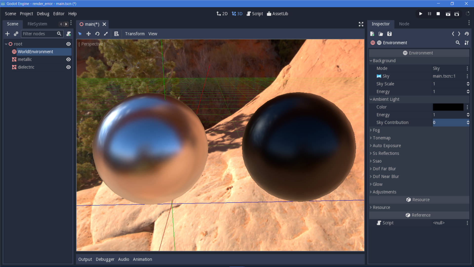 Metallic PBR is broken with ambient environment lighting · Issue