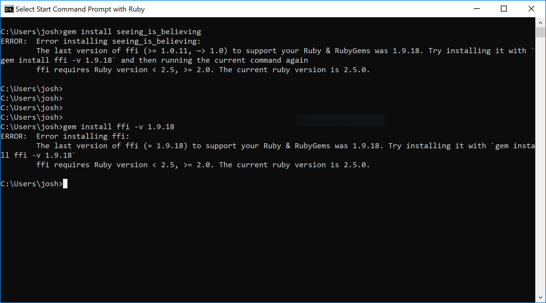 Gem Install ffi not work in ruby 2.5.0 � issue #602 � ffi/ffi � github