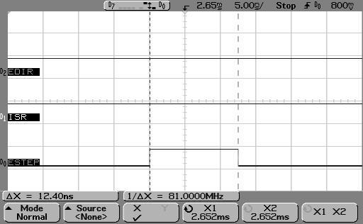 LPC step pulse width