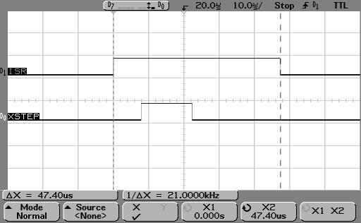 AVR1 dedge ISR