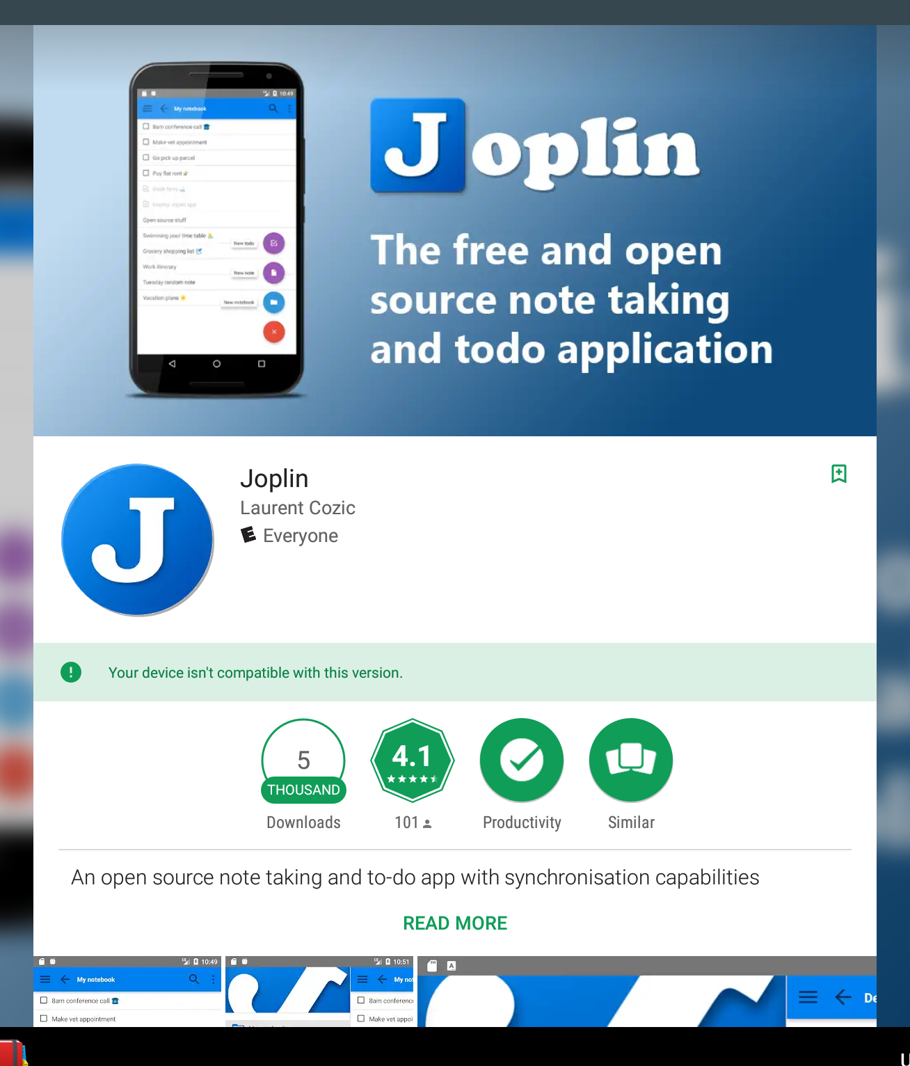 Please enable the Joplin Android app on Chromebooks · Issue