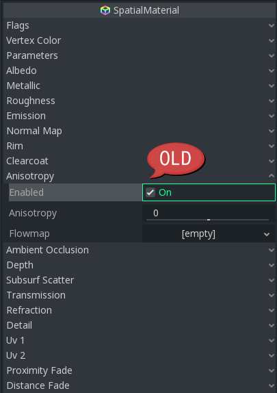 UI: Move Checkboxes in Inspector > Spatial Material · Issue