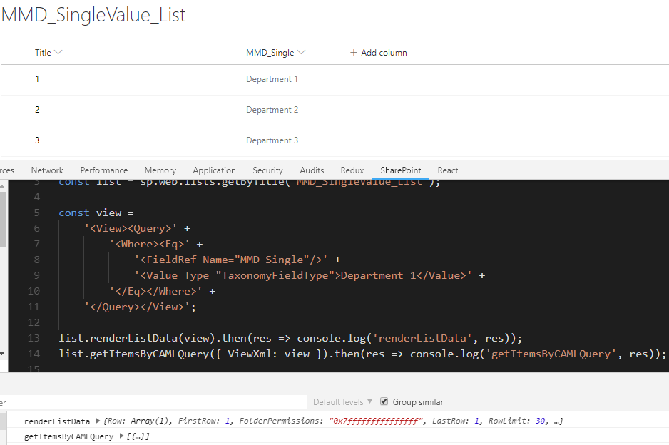 Best approach to filter managed metadata column · Issue #139