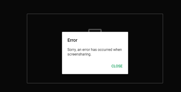 Screen share with Google Meet does not work · Issue #606