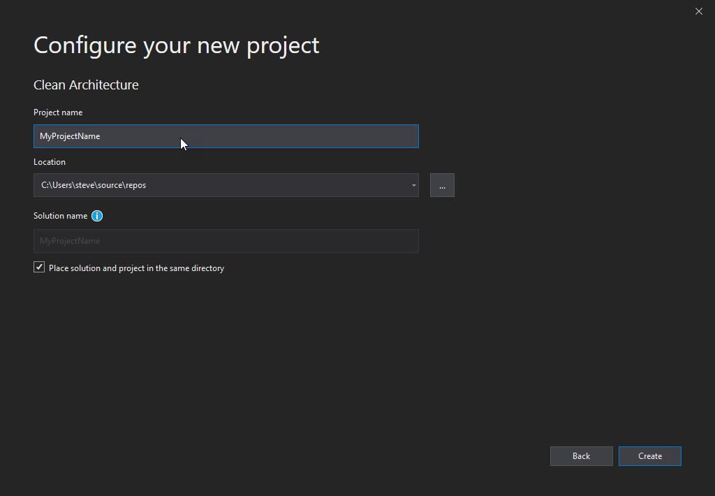 Clean Architecture Project Template step 2