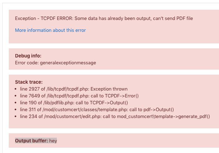 Php Pdf Error