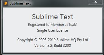 LICENCE SUBLIME TEXT 3 BUILD 3200 · GitHub