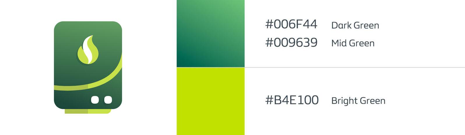 Gradient usage - Green